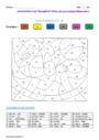 Coloriage magique - M devant m, b, p : CE2