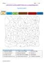 Coloriage magique - Ponctuation : CE1