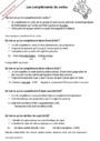 Leçon et exercice : Complément du verbe : CM1