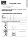 Leçon et exercice : Coupe syllabique : CE1