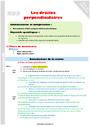 Leçon et exercice : Droites perpendiculaires : CM1