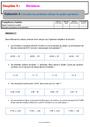 Evaluation Calculs : 6ème