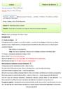 Evaluation Grammaire - Anglais : CM2