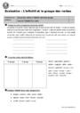 Evaluation Infinitif : CM1