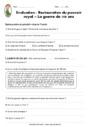 Evaluation La guerre de cent ans : CM1