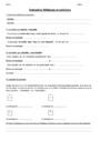 Evaluation La matière : CE2
