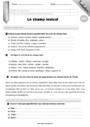 Evaluation Lexique : CM2