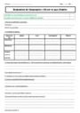 Evaluation Lieu de vie : CM1
