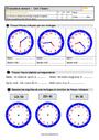 Evaluation Lire l'heure, horloge : CM2