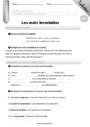 Evaluation Mots outils, invariables : CM2