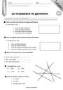 Evaluation Vocabulaire de géométrie : CM2