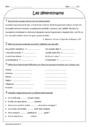 Exercice Article et déterminant : CE2