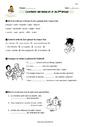 Exercice Conjugaison - Étude de la langue : CM1