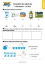 Exercice Contenance, capacité litre : CE1