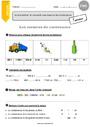 Exercice Contenance, capacité litre : CM1