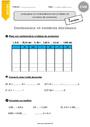 Exercice Contenance, capacité litre : CM2