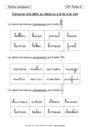 Exercice Ecrits poétiques / Jeux d'écriture : CP