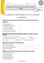 Exercice Formes de phrases : CE2