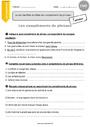 Exercice Grammaire - Étude de la langue : CM2