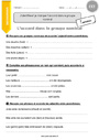 Exercice Groupe nominal : CE2