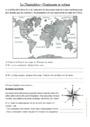 Exercice Le relief dans le monde : CE2