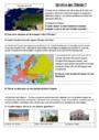Exercice Le relief en Europe : CM2
