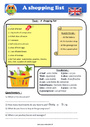 Exercice Lecture / compréhension - Anglais : CM2