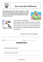 Exercice Lecture compréhension : CM2