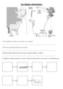 Exercice Les animaux et leur milieu : CM1