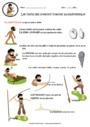 Exercice Les outils de la préhistoire : CM1