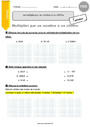 Exercice Multiplication : CM1
