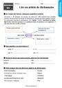 Exercice Ordre alphabétique / Dictionnaire : CE1