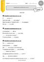 Exercice Orthographe - Étude de la langue : CE1