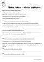Exercice Phrase simple et complexe : CM1