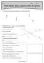 Exercice Point, droite et segment : CM1