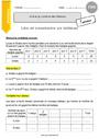 Exercice Tableaux : CM1