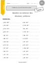 Exercice Unités, Dizaines, Centaines : CE1