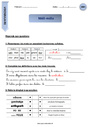Exercice Vocabulaire ludique : CM1