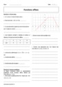 Cours et exercice : Fonctions affines : Seconde - 2nde