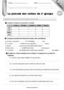 Leçon et exercice : Groupes des verbes : CM2