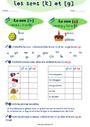 Leçon et exercice : k / g - Son complexe, confusion : CE1