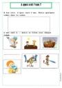 Leçon et exercice : L'éducation à l'environnement : L'eau : CP