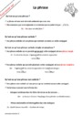 Leçon et exercice : La phrase : CM2