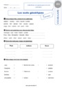 Leçon et exercice : Mots étiquettes / termes génériques et particuliers : CE1