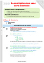 Leçon et exercice : Multiplication : CM2