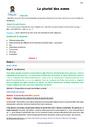 Leçon et exercice : Orthographe - Étude de la langue : CM1