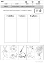Leçon et exercice : Phonologie : MS - Moyenne Section