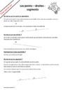 Leçon et exercice : Point, droite et segment : CM1