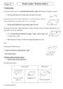 Cours et exercice : Position relative de droite et plan : Seconde - 2nde