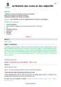 Séquence - Fiche de préparation Accord de l'adjectif qualificatif : CM1